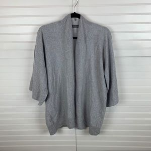 • Hawico Swift Cashmere Open Front Cardigan Silver